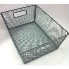 Style Selections�10.69-in W x 5.5-in H x 14.25-in D Silver Iron Bin