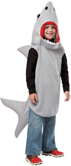 Sand Tiger Shark Attack Costume Animal Unisex Jaws Fish Fancy Dress Outfit Plus