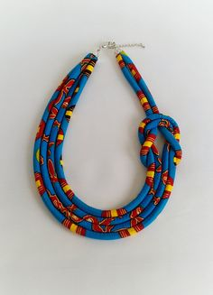 African Print Necklace Ankara NecklaceAfrican Print