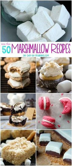 More than 50+ Marshmallow Recipes at chef-in-training.com ...SO many yummy recipes!