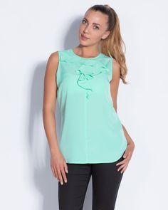 Дамски топ - мента - Brazil #online #онлайн #пазаруване #дрехи #потник #топ #зелен