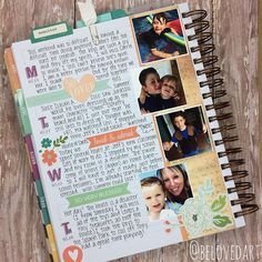 Original pinner sez: So many reasons to love the InkWell Flex Planner. Mine is my favorite place to journal! I use it as a memory book. I love all the space to record the details of our week. #PickYourIWP by belovedart