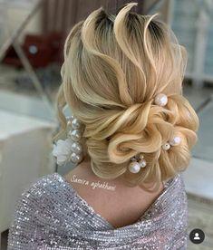Black Eye Makeup, Updos For Medium Length Hair, Bride Hairstyles, Hair Videos, Digital Pattern, Blonde Hair, Marie, Curly, Hair Styles