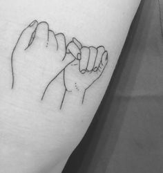 Personalized hands. Our story, our live, our promise. Pinky promise tattoo