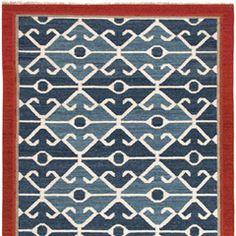 Jaipur Anatolia Sultan Smoke Blue/Red Flat Weave Rug JAIAT03