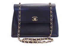 e712998a2611 Vintage CHANEL Caviar Flap Handbag at Rice and Beans Vintage - Vintage  Designer Clothing Vintage Chanel