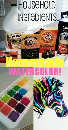 This conference weekend  as a craft time with the kiddos, we made homemade water color paints. Painting with water colors is a fun past...