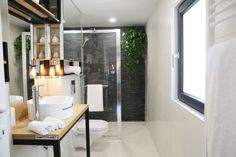 tiny bathroom, industrial style bathroom