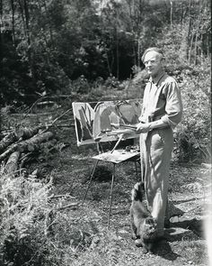 🌳🌲Ivon Hitchens: The Painter in the Woods is now open! 🌲🌳 Immerse yourself in Hitchens' woodland world, and discover a life of painting,… Sussex Gardens, Painter Artist, Garden In The Woods, Sculpture, His Eyes, Les Oeuvres, Habitats, Landscape Paintings, Woodland