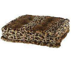 Dennis Basso Stackable Faux Fur Tufted Pillow Cushion