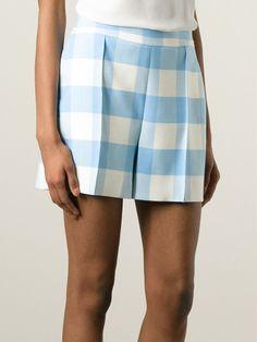 Shop OSCAR DE LA RENTA plaid shorts from Farfetch