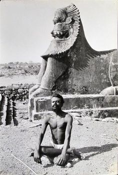 Yogi photographed by Henri Cartier-Bresson.