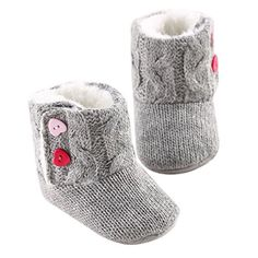 LIVEBOX Baby Cotton Knit Premium Soft Sole AntiSlip Mid Calf Warm Winter Infant Prewalker Toddler Boots M 612 months *** Read more  at the image link.Note:It is affiliate link to Amazon.