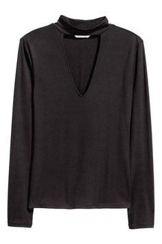Turtleneck top - Black - Ladies | H&M GB