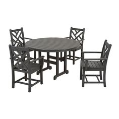 Shop POLYWOOD  Chippendale 5-Piece Outdoor Dining Set at ATG Stores. Browse our outdoor dining sets, all with free shipping and best price guaranteed.
