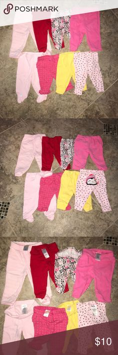 8 piece baby legging bundle, 3 months, gymboree All 8 pieces for 10 dollars, that is just a little more than 1$ a piece! These leggings are the perfect addition to a cute onesie!   4 carters size 3 months leggings, 3 Gymboree leggings size 0-3 months,  1 Koala leggings size 3 months.   Excellent used condition. Coming from a dog friendly, smoke free home. Gymboree Bottoms Leggings