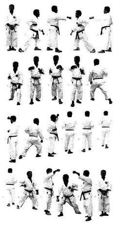 Shorin Ryu Kata Diagrams   ... sind die Fukyu kata ni und die Gekisai Dai ichi meist sehr ähnlich