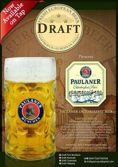 Draft Beer @Molito Alabang San Pellegrino, Alcohol, Food, Oktoberfest, Beer, Rubbing Alcohol, Essen, Meals, Yemek