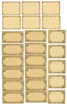 Etykiety na przyprawy – apteczny styl vintage Vintage Labels, Vintage Ephemera, Vintage Paper, Printable Scrapbook Paper, Printable Paper, Printable Labels, Printable Stickers, Journal Stickers, Planner Stickers