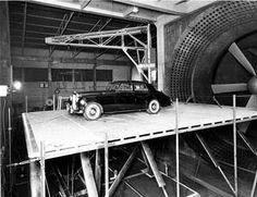 Bentley in Farnborough wind tunnel 1957