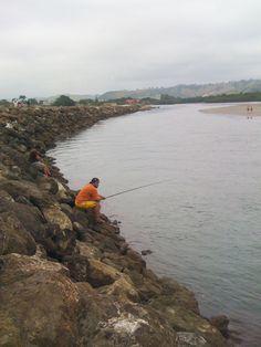 Desembocadura #tonsupa #river #fisherman Ecuador, River, Mountains, Country, Nature, Rural Area, Rivers, Country Music, Nature Illustration