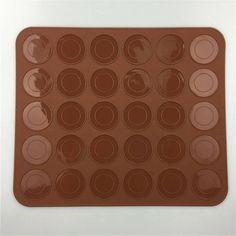 New Silicone Macaron Macaroon Pastry Oven Baking Mould Sheet Mat 30-Cavity DIY Mold Baking Mat Esteiras Forros De Cozimento ZT