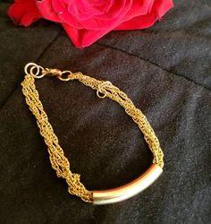 pulseira folheado a ouro - bijoux sem marca