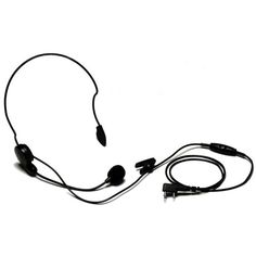 RACING DUAL EAR HEADSET SCANNER 3.5MM MOTOROLA ICOM KENWOOD RADIOS CP200 CP185