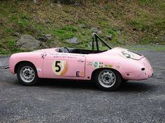 Perfect day for a Pink 356... This was an old racecars from the 60s and 70s and yes it raced in this matte pink for years. The car was tucked away and belongs to an old friend of mine up in the Northwest. I believe it still looks just like this today. by rodemory