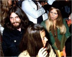 1969 the Beatles (minus Paul) watch Bob Dylan perform at the Isle of Wight Festival.