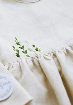 Handmade Embroidered Linen Baby Toddler Dress | Vorgona on Etsy