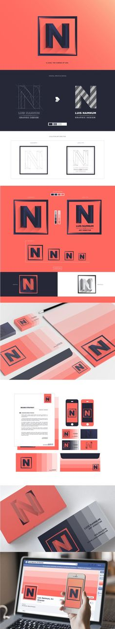 Brand identity re-design - this is amazing, I might have to do this with my Facebook page!
