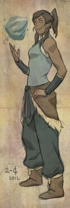 The Legend of Korra: Korra by JoaquimDossantos.deviantart.com on @deviantART