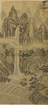 한운평 '구룡폭' 조선시대 19세기/美 클리블랜드박물관