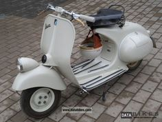 1954 Vespa VM 125 Lamp Down Faro Basso Motorcycle Scooter photo