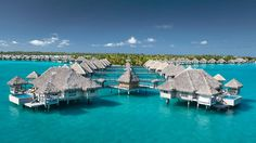 Bora Bora, Tahiti  --  Yes, paradise exists, and its name is Bora Bora. Arguably the most stunning island in the world, Bora Bora sits beneath the shadow of its highest point, Mount Otemanu, surrounded by Pacific waters mottled with a thousand shades of blue. Offering 5-star service in a family friendly setting, the St. Regis resort stands out as one of the islands top luxury stays.