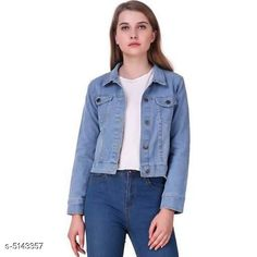 Jackets Classic Fashionista Women Jacket Fabric: Denim Sleeve Length: Long Sleeves Pattern: Solid Multipack: 1 Sizes:  S (Bust Size: 36 in Length Size: 30 in)  XL (Bust Size: 42 in Length Size: 30 in)  L (Bust Size: 40 in Length Size: 30 in)  M (Bust Size: 38 in Length Size: 30 in)  Country of Origin: India Sizes Available: S, M, L, XL   Catalog Rating: ★4.1 (2180)  Catalog Name: Free Mask Classic Fashionista Women Jackets Vol 1 CatalogID_759475 C79-SC1023 Code: 213-5143357-327