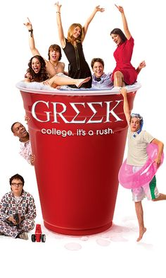 Greek a comedy/ drama/ stereotypical show about how college students in sororities and fraternities behave and live their college experience.  The show was 4 seasons long and was previewed on ABC Family.