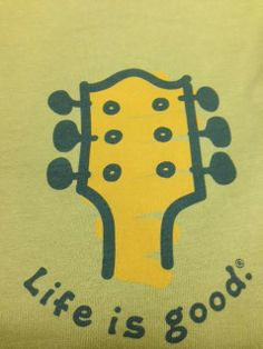 "Life is good brand men's long sleeve shirt in green. ""Life is good"". Our grandson needs this one.  :)"