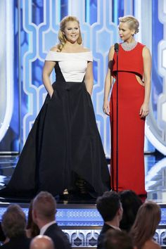 Pin for Later: 13 Moments That Made the Golden Globes Worth Watching Amy Schumer and Jennifer Lawrence Were Amazing
