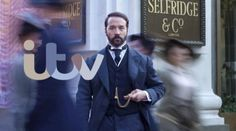"""BBC Masterpiece Classic : Mr Selfridge ~ Starring: Jeremy Piven Frances O'Connor ~ """"Centers on the real-life story of the flamboyant visionary American founder of Selfridge's, London's department store. Branding, Brand Identity, Bbc, Mr Selfridge, Jeremy Piven, Uni Fashion, Nouveau Logo, Netflix Instant, Channel"""