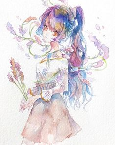 Sad Girl Drawing, Manga Drawing, Anime Drawings Sketches, Art Drawings, Cute Anime Chibi, Kawaii Art, Anime Art Girl, Character Design Inspiration, Pictures To Draw