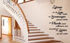Wandtattoo Zuhause ist.. für Schlafzimmer, Wohnzimmer, Flur, Küche, Büro, Deko