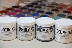 Golden Acrylic Mediums and Pan Pastels. . . good stuff.