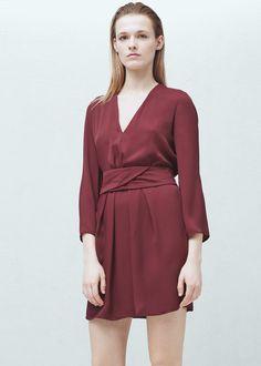 Vestido cinturón desmontable - Vestidos de Mujer | MANGO