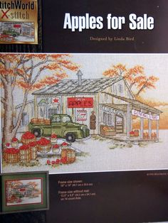 Apples For Sale By Linda Bird And StitchWorld X-Stitch Cross Stitch Pattern Leaflet 1995