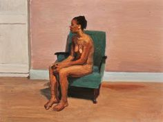 Seated nude with white door (Nomthimba) , oil on board, x Clare Menck Woman Painting, Figure Painting, Funny Jokes, Artist, Figurative, Portraits, Paintings, Women, Beautiful