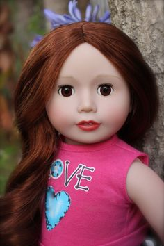 """Meet Harmony Club 18"""" Doll, Kendall, with realistic chestnut red hair and brown open and close eyes. Available at www.harmonyclubdolls.com"""