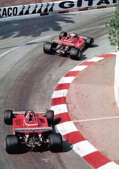 1979 Ferrari 312T4, Scheckter followed by Villeneuve.