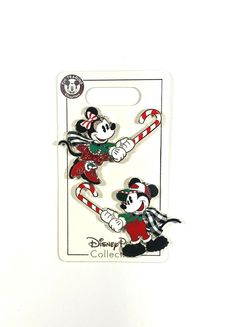 Disney Parks 2019 Christmas Mickey & Minnie Holding Candy Cane 2 Pin Set New Disney Parks, Walt Disney World, Magic Kingdom Castle, New Pins, Candy Cane, Holiday, Christmas, Mickey Mouse, Ebay